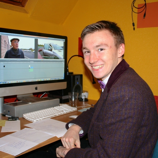 Liam editing on Final Cut Pro