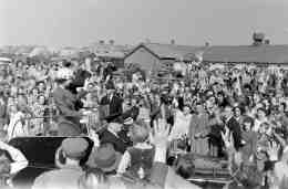 The Queen visits the market 1957