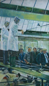 Jason Hodges' old cattlemarket painting
